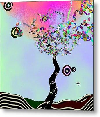 Tree Of Jim Morrison Metal Print by GuoJun Pan