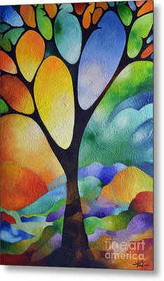 Tree Of Joy Metal Print by Sally Trace