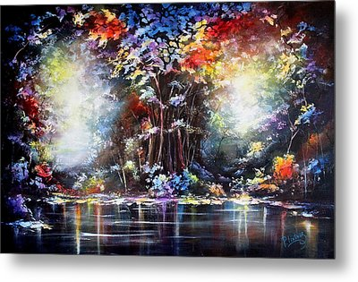 Metal Print featuring the painting Tree Of Life 2 by Patricia Lintner