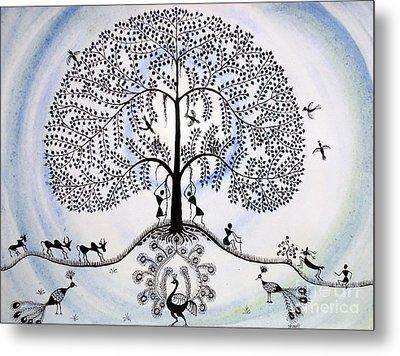 Tree Of Life Metal Print by Anjali Vaidya