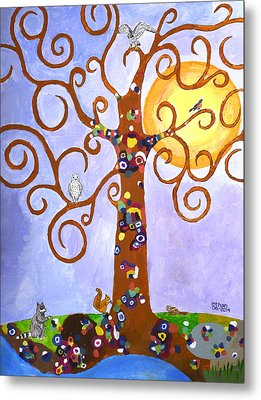 Gustav Klimt Tree Of Life Metal Print by Ethan Altshuler