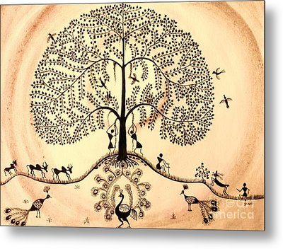 Tree Of Life II Metal Print by Anjali Vaidya