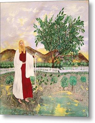 Tree Of Life- Jesus Metal Print by Sima Amid Wewetzer