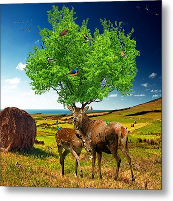 Tree Of Life Metal Print by Marian Voicu