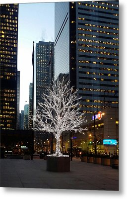 Tree Of Lights II Metal Print by Nicky Jameson
