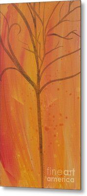 Tree Of Three Coral Metal Print by Robin Maria Pedrero