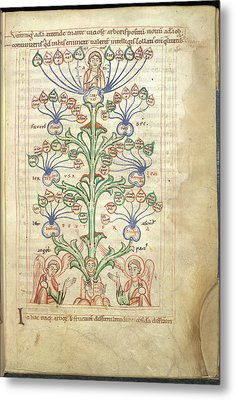 Tree Of Virtues Metal Print by British Library
