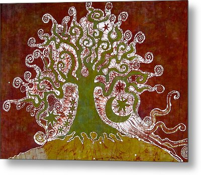 Tree On A Hill Metal Print by Victoria Dresdner