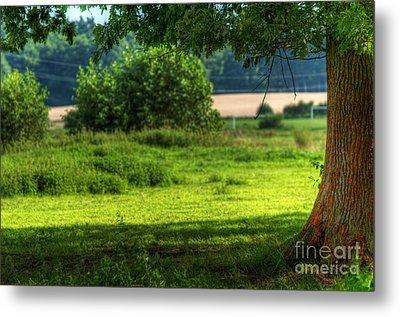 Tree On Summer Field Metal Print by Michal Bednarek