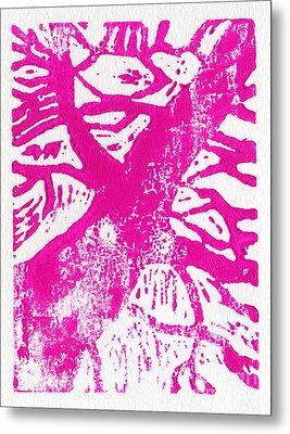 Tree Print Pink Metal Print