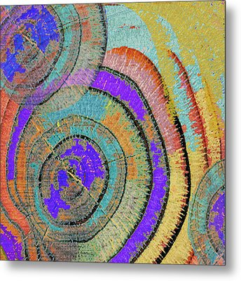 Tree Ring Abstract 3 Metal Print by Tony Rubino