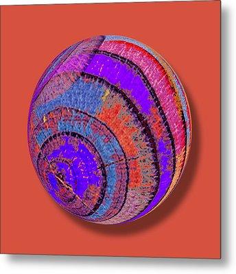 Tree Ring Abstract Orb Metal Print by Tony Rubino