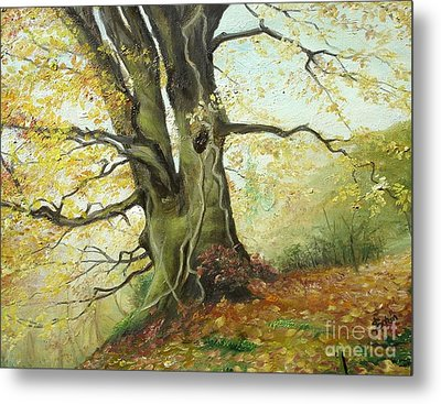 Metal Print featuring the painting Tree by Sorin Apostolescu