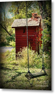 Tree Swing By The Outhouse Metal Print by Paul Ward