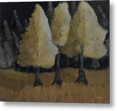 Tree Trio Metal Print by Dick Bourgault