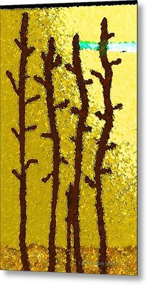 Trees - A Tribute To Vivian Anderson Metal Print by Lenore Senior