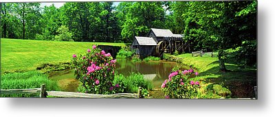 Trees Around A Watermill, Mabry Mill Metal Print by Panoramic Images