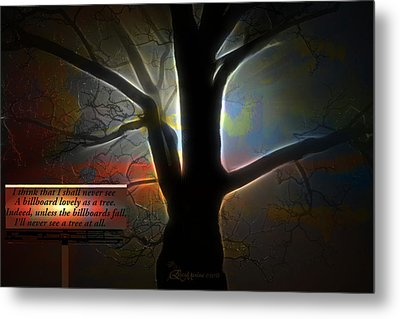 Trees - Featured In 'comfortable Art' Group Metal Print by EricaMaxine  Price