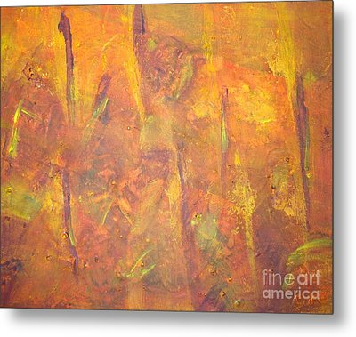 Trees Of The Field Metal Print by Olivia  M Dickerson