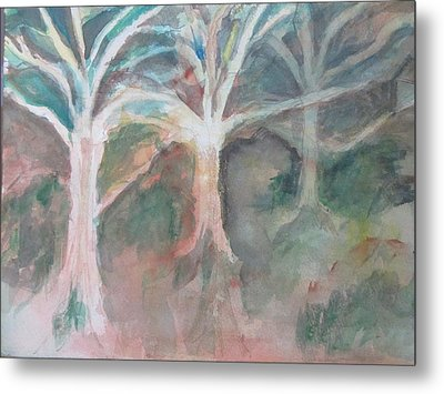 Trees Without Leaves Metal Print