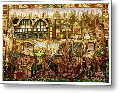 Treetown Metal Print by Colin Thompson