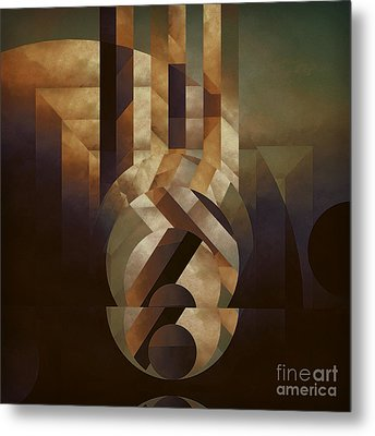 Tremulous Sphere Metal Print by Lonnie Christopher