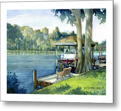 Trent River Boathouse Metal Print