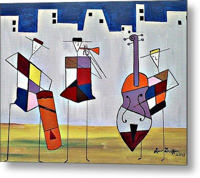 Tres Musicians Metal Print by Lew Griffin