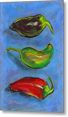 Tres Peppers Metal Print