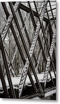 Trestle Gridwork Decorated By Nemo Metal Print