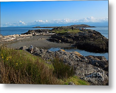 Trial Island And The Strait Of Juan De Fuca II Metal Print by Louise Heusinkveld
