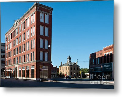 Triangle Building Metal Print by Lawrence Burry