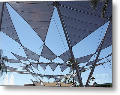 Metal Print featuring the photograph Triangle Sky by Chris Thomas