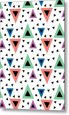 Triangular Dance Repeat Print Metal Print