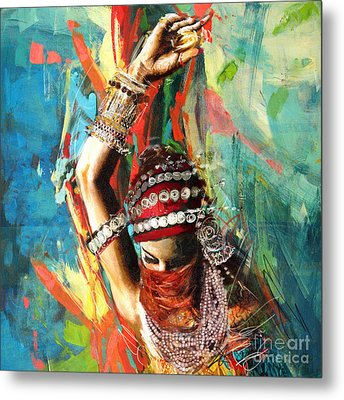 Tribal Dancer 1 Metal Print by Mahnoor Shah