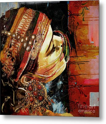 Tribal Dancer 3 Metal Print by Mahnoor Shah