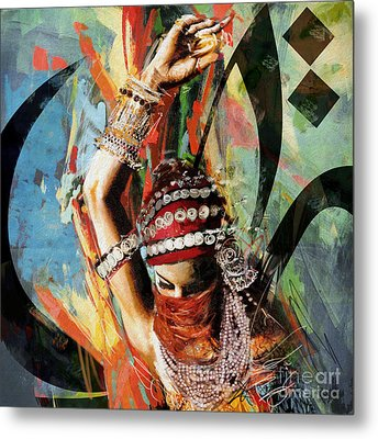 Tribal Dancer 4 Metal Print by Mahnoor Shah