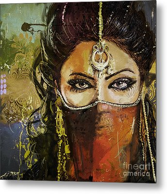 Tribal Dancer 6 Metal Print by Mahnoor Shah