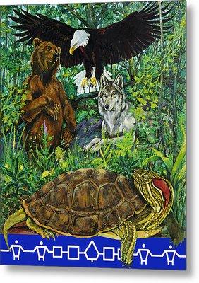 Tribal Gathering Metal Print by Derrick Higgins