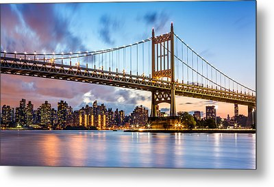 Triboro Bridge At Dusk Metal Print by Mihai Andritoiu