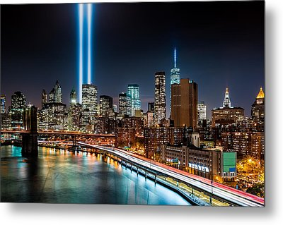 Tribute In Light Memorial Metal Print by Mihai Andritoiu