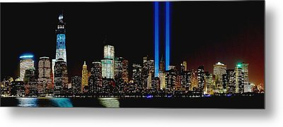 Tribute In Light Memorial Metal Print by Nick Zelinsky