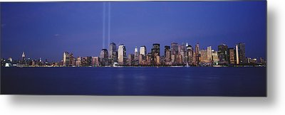 Tribute In Light, World Trade Center Metal Print by Panoramic Images