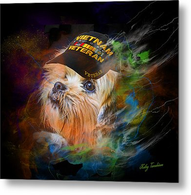 Metal Print featuring the digital art Tribute To Canine Veterans by Kathy Tarochione