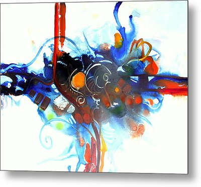 Tribute To Chihuly Metal Print by Patricia Mayhew Hamm