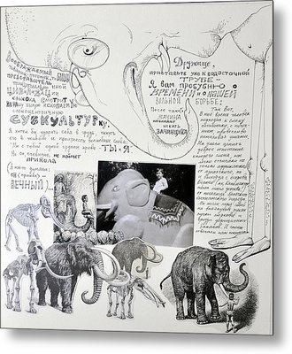 Tribute To Elephants Of Our Childhood Metal Print