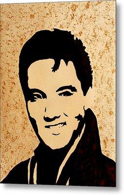 Tribute To Elvis Presley Metal Print by Georgeta  Blanaru