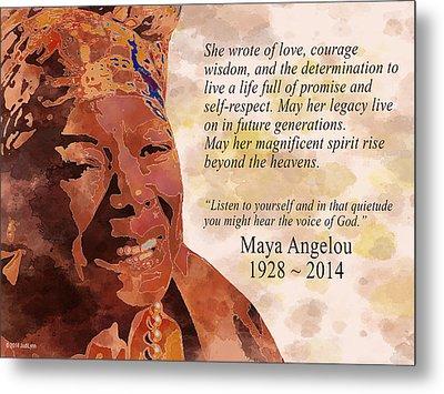 Tribute To Maya Angelou Metal Print
