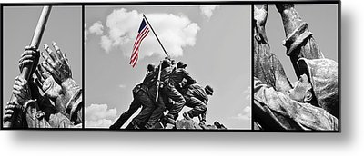 Tribute To The Marines Metal Print by Jean Goodwin Brooks
