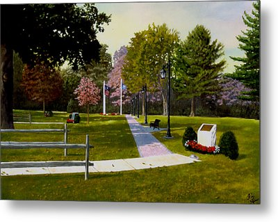 Tribute Walkway Metal Print